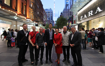 Pitt Street Mall Lights Up